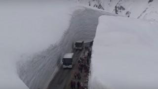 海外「すっごくきれいなんです!」雪の大谷ウォークをご存じですか?