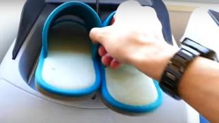 海外「買ってみたい!」初めて見たスリッパ殺菌マシンは衛生的でクール