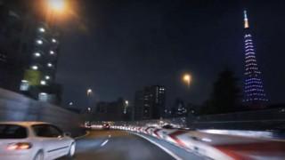 海外「疾走感が癖になる!」夜の首都高湾岸線からお台場渋谷線の景色