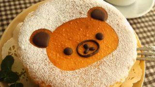 海外「100円 型で!」リラックマ・ベイクドチーズケーキ