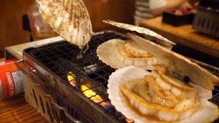 海外「日本酒と食べたい!」東京で食べる浜焼き炭火七輪焼