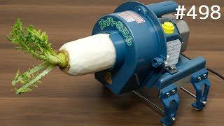 海外「電動で大根おろしを大量生産!」業務用大根おろし機を確かめてみた