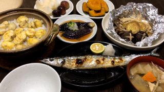 海外「秋の旬を使った晩ごはんの作り方」日本の夕ごはん 秋の味覚編のメニュー