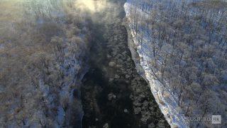海外「冬の北海道を8Kで空撮してみた」釧路の冬・雪と氷の世界に感動!