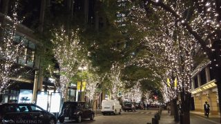 海外「シャンパンゴールドに輝く」丸の内イルミネーションと東京駅の景観
