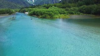 海外「長野松本の梓川周辺の景色」上高地の美しい自然を空撮してみた