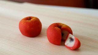 海外「本物そっくりな和菓子2種」りんごの練りきりの趣向を凝らした作り方