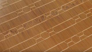 海外「現代の暮らしに息づく竹すだれ」大阪金剛簾は天然竹で織る美しいデザイン