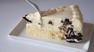 海外「巨大なアイスケーキ」ジャイアントオレオチーズケーキ・アイスの作り方