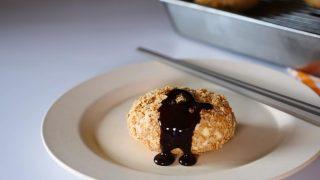 海外「チョコとクッキーアイスで再現してみた!」なんちゃってコロッケの作り方