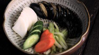 海外「ご飯に合う!大根、茄子、胡瓜、人参、セロリを使った」塩漬けの作り方