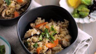 海外「圧力鍋で簡単おいしい!和食のご飯」炊き込みご飯の作り方