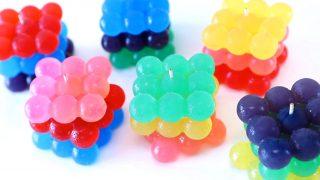 海外「ひとつひとつが大きい球体グミ!」カラフルジュエリーキューブグミの作り方